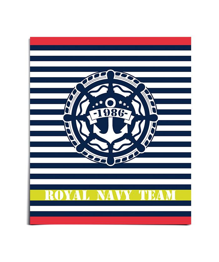 toalla de playa gigante royal navy