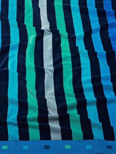 toalla playa burrito blanco 174 rayas azules