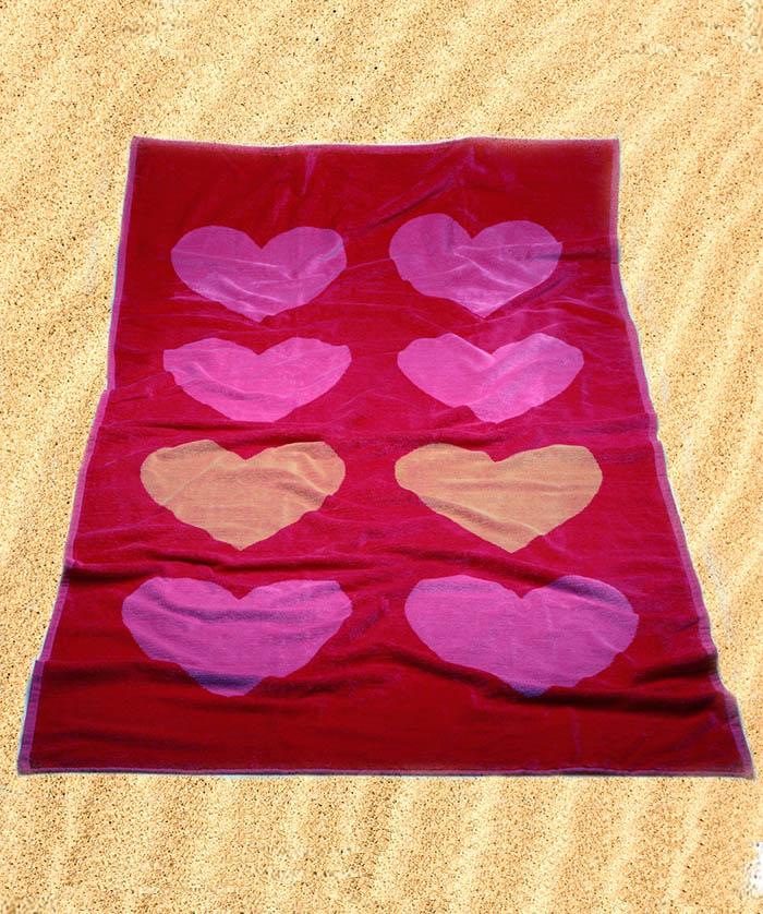 toalla playa burrito blanco 176 corazones