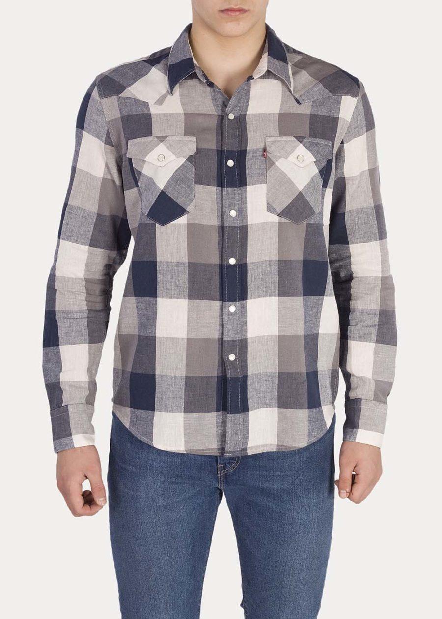 Camisa LEVIS Barstow Western Mallard Cuadros Grises