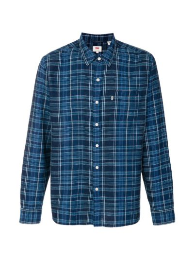 Camisa Levis Sunse one pocket Cuadros Azul