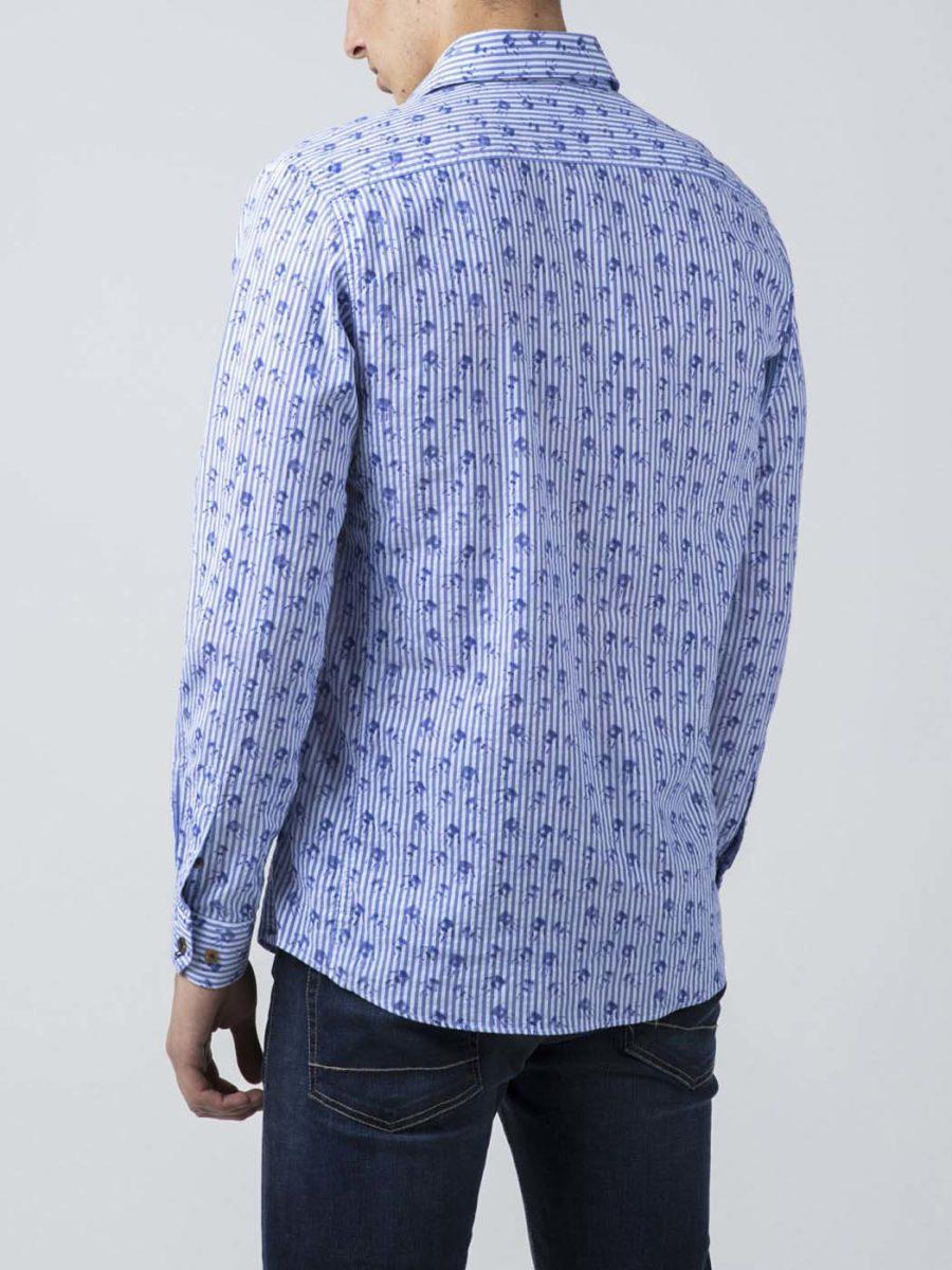 camisa DR&N rayas verticales estampado mano