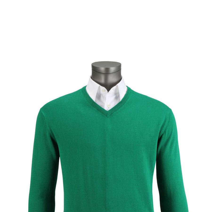 jersey florentino verde cuello pico regular fit